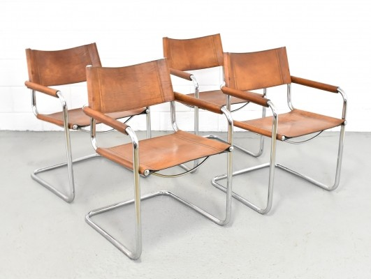 Set of 4 dining chairs by Mart Stam for Fasem, 1960s