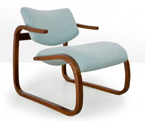 Oddvin Rykken Balance lounge chair in beech, 1970s