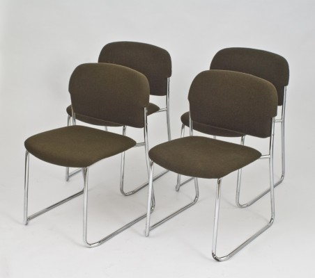 Set of 4 dining chairs by Gerd Lange for Drabert, 1970s