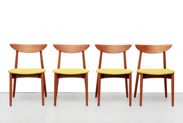 Set of 4 Harry Ostergaard Danish design dining room chairs