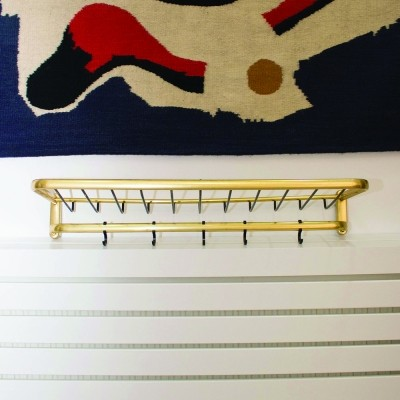 Wall coat rack made of brass