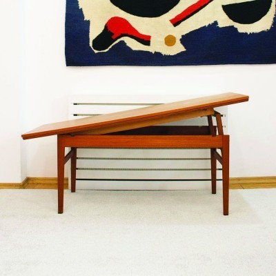 Danish extendable Elevator coffee/dining table in teak, the 1960s