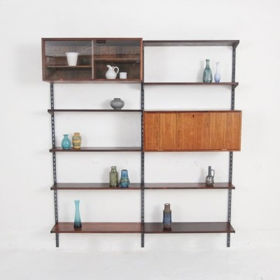 FM wall unit in rosewood by Kai Kristiansen for Feldballe Møbelfabrik