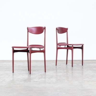 Set of 2 Tito Agnoli chairs for Matteo Grassi, 1980s