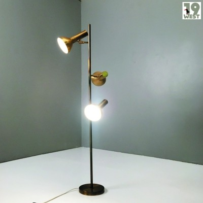 Staff floor lamp with three spots from the 1960's