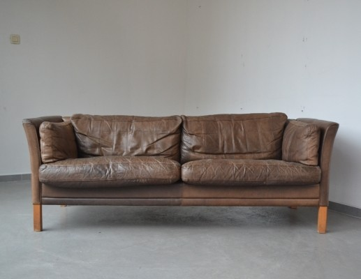 Rough patinated three seater from Mogens Hansen, 1960's