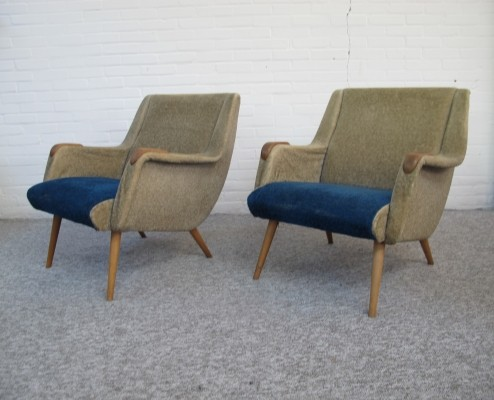 Pair lounge chairs from the 1950s