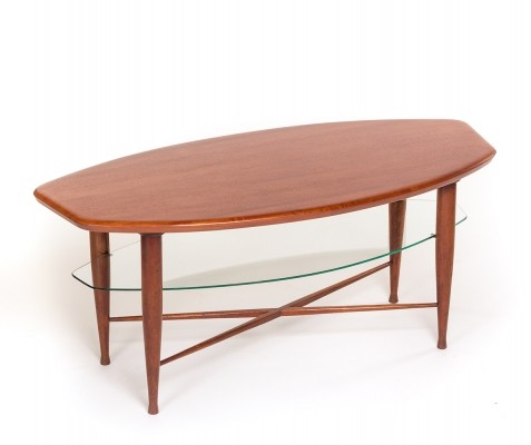 Vintage Danish organic shaped teak coffee table, 1960's