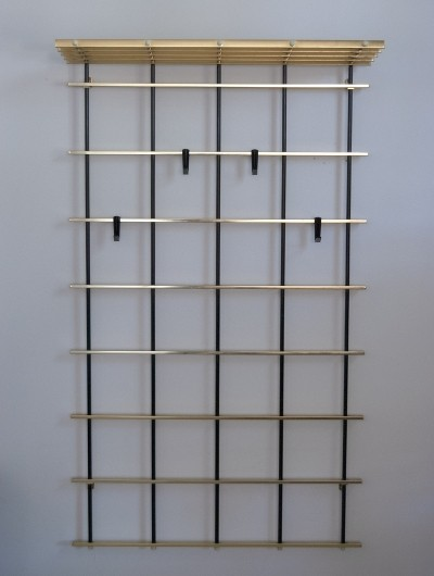 Aluminum Gold Anodized Coat Rack, 1960s