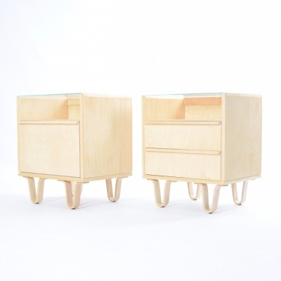 Pair of NB01 + NB02 cabinets by Cees Braakman for Pastoe, 1950s