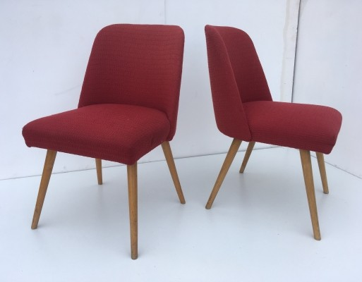 DDR design dining chairs, 1950s