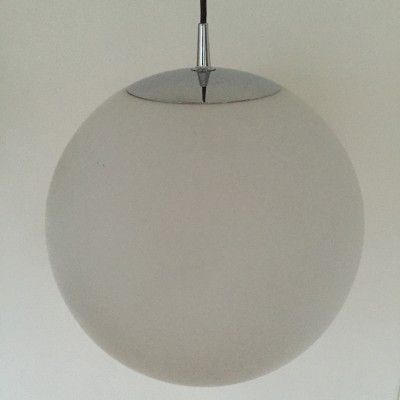 Opaque white xxl globe light by Peill & Putzler