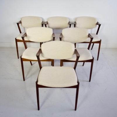 Set of Six Kai Kristiansen Dining Chairs, Model 42