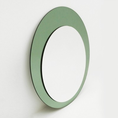 Italian Mid century mirror with glass, 1970s