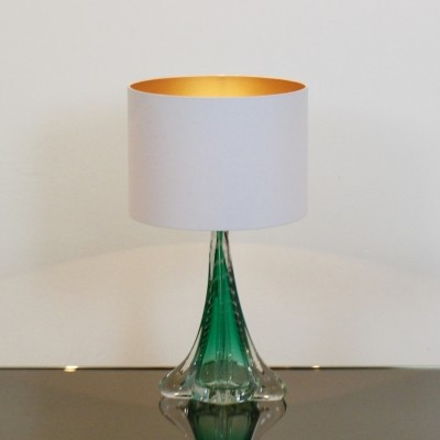 Handmade Boussu Translucent Glass Table Lamp
