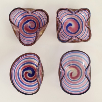 Set of Four Fratelli Toso Ashtrays