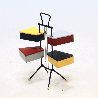 Dutch Design Sewing Box by Joos Teders For Metalux, 1950s