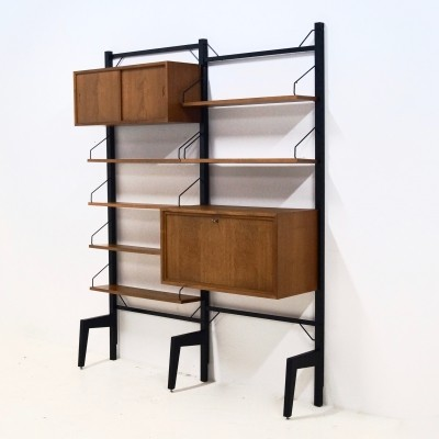 Free Standing Royal System Teak Wall Unit by Poul Cadovius, 1960's