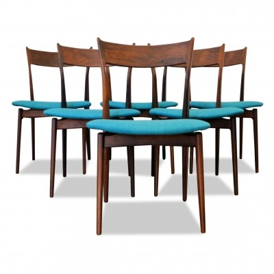 Set of 6 Vintage Danish design rosewood dining chairs