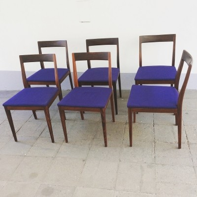 Set of 6 Rosewood Dining Chairs by Lübke