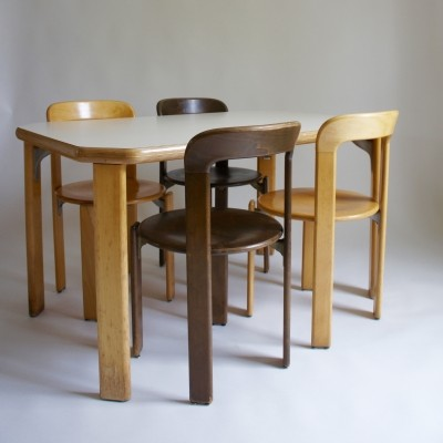 Bruno Rey Dining Table & Chair Set, 1971
