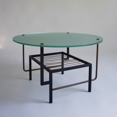 1950's French Glass Coffee Table