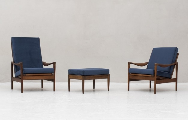 Pair of De Ster Gelderland lounge chairs, 1950s