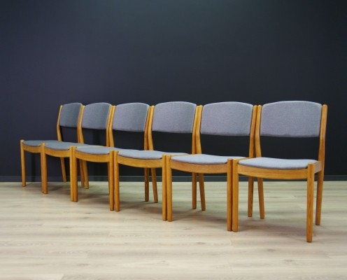Set of 6 dining chairs by Poul Volther for FDB Møbler, 1960s