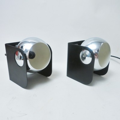 Pair of Italian ball wall lamps