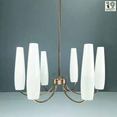 Modernist brass chandelier from the 1950's