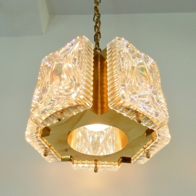 Danish pendant lamp in brass
