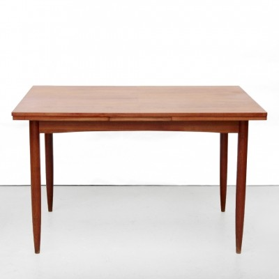 Vintage teak extendable dining room table by Georg Leowald for Wilkhahn
