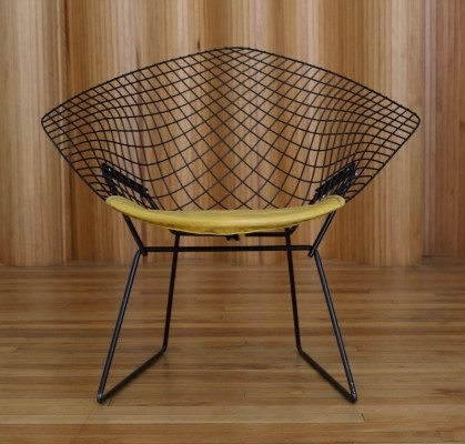 Large Diamond Lounge Chair By Harry Bertoia For Knoll