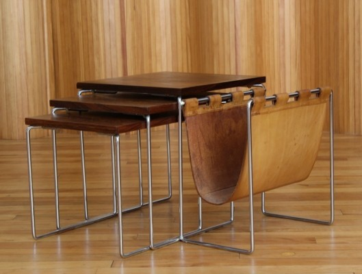 Brabantia rosewood nest of tables