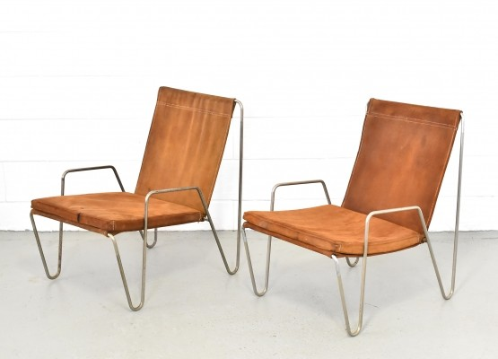 Pair of Bachelor lounge chairs by Verner Panton for Fritz Hansen, 1950s
