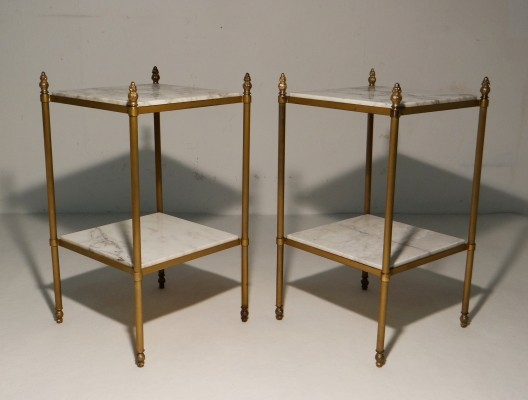 Gilded sidetables by Maison Bagues