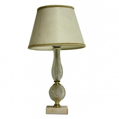 Vintage Italian table lamp made from marble & crystal, 1960s