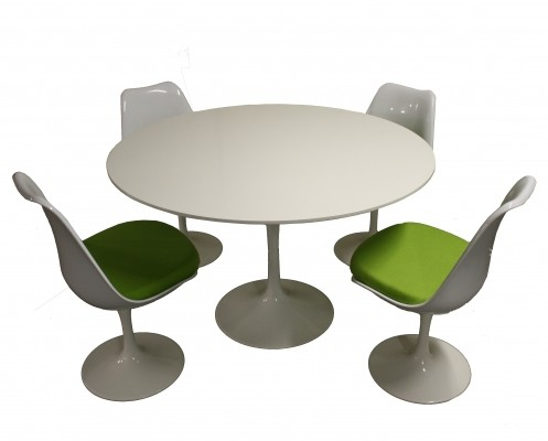 Vintage Tulip dining table & chairs, 1980s