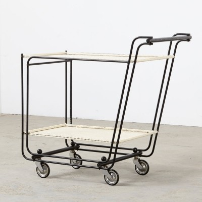 Dutch Perforated Serving Trolley from the 1950s