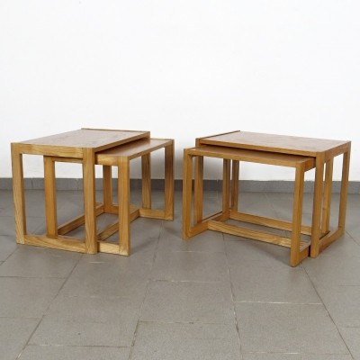 Set of 4 vintage nesting tables, 1970s