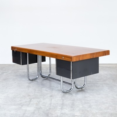 Bauhaus style presidential writing desk, 1970s