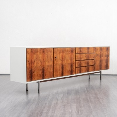 1970s sideboard in rosewood & chrome