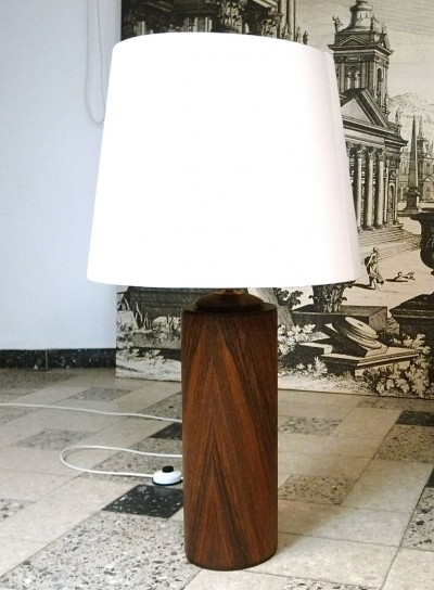 Large Scandinavian Rosewood Table Lamp, 1960s