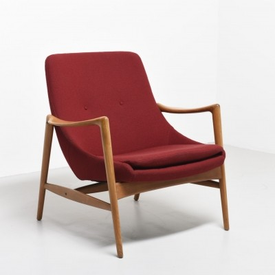 Easy chair in Beech by Rastad & Relling, 1957
