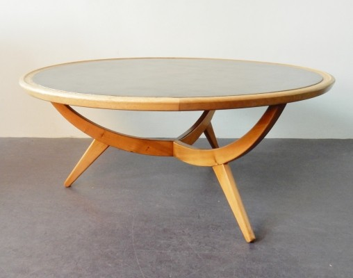 Black veneered top coffee table by Patijn for Zijlstra Joure