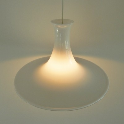 White glass 'mandarin' pendant lamp by Michael Bang for Royal Copenhagen