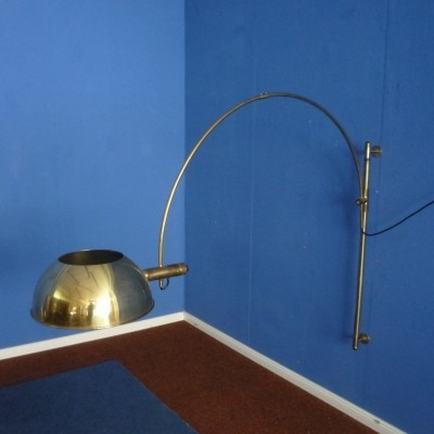 Brass Wall Lamp by Florian Schulz, 1960s