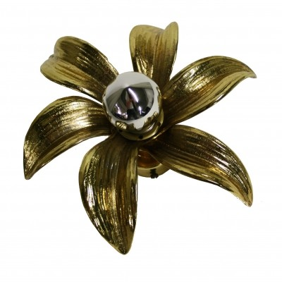 Brass flowers ceiling/wall light by Massive