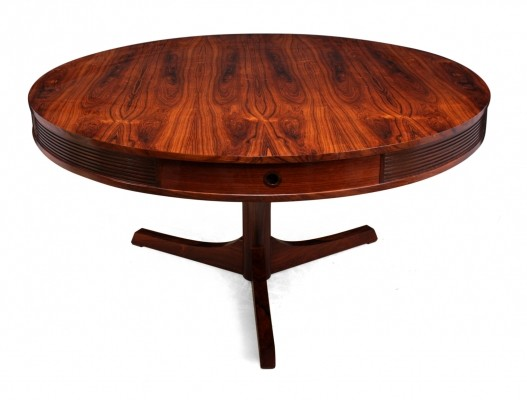 Rosewood Drum Table by Robert Heritage for Archie Shine, 1957