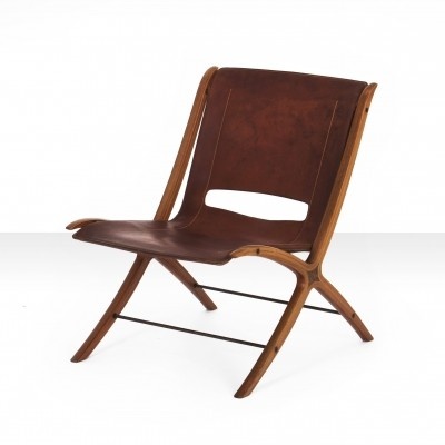 Peter Hvidt & Orla Mølgaard-Nielsen 'X' Chair in cognac leather
